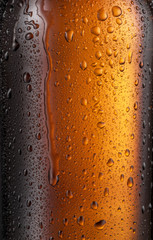 Wall Mural - Misted glass of beer bottle. Close up shot.