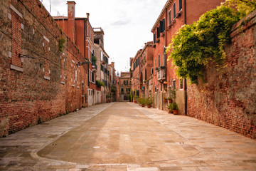 Venice Italy narrow beautiful streets August 2019