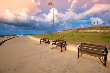 Fototapete - Promenade in Midron Yaffo Park. Harry S Truman Street