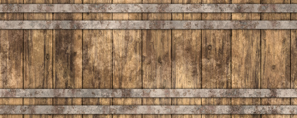 3d beer barrel wooden texture background Fototapete
