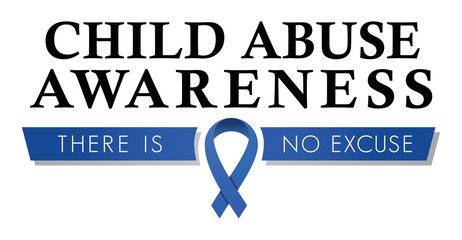 Child Abuse Awareness Ribbon   Logo for Abuse Prevention   Vector Fundraising Graphic   Blue Ribbon Icon