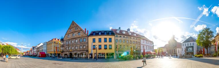 Fototapete - Panorama Maximilianstrasse, Bayreuth, Deutschland