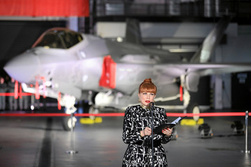 U.S. Ambassador to Poland Mosbacher attends a ceremony to sign a contract for the purchase of Lockheed Martin F-35 fighter jets in Deblin