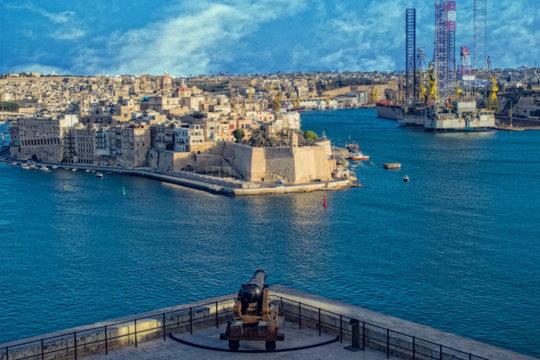 Old Cannon at the Lower Barrakka in Valletta, Malta