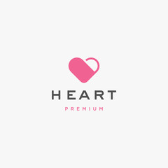Love, heart logo icon illustration vector