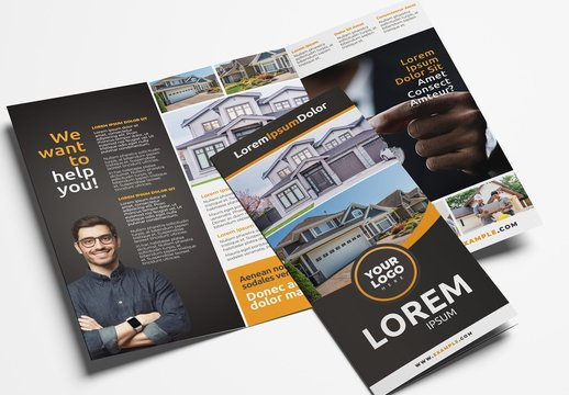 Trifold Brochure with Modern Layout