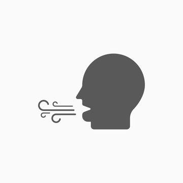 breath icon, bad breath vector