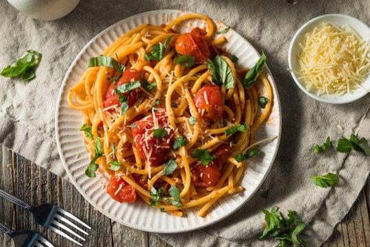 Homemade Bucatini all Amatriciana Pasta