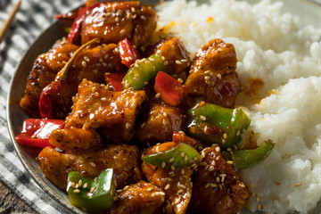 Homemade Spicy Szechuan Chicken