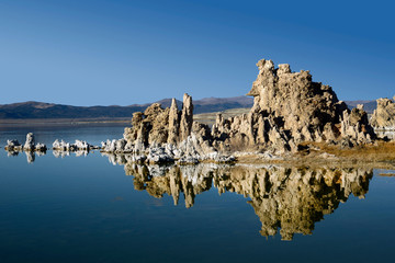 The beautiful Tufa Formations at Mono Lake in the Eastern Sierras of California