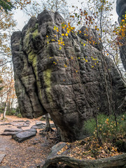 The Horse Head Rock formation in the Table Mountain National Park, Poland