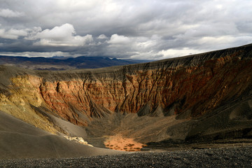 The Ubehebe Crater located is located in Death Valley, California, an extinct volcano that blew itself out years ago