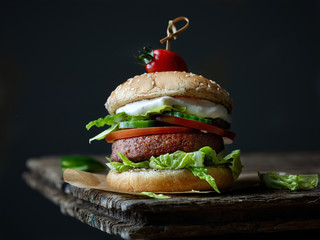fresh tasty meat free burger