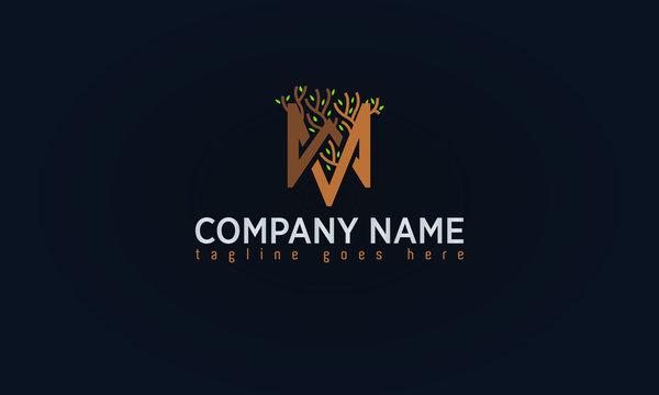 Monogram Letter Gold Logo Design
