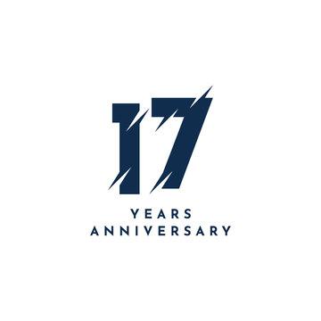 17 Years Anniversary Template Design