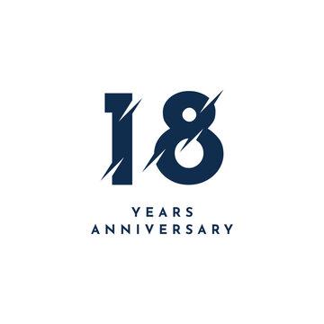18 Years Anniversary Template Design