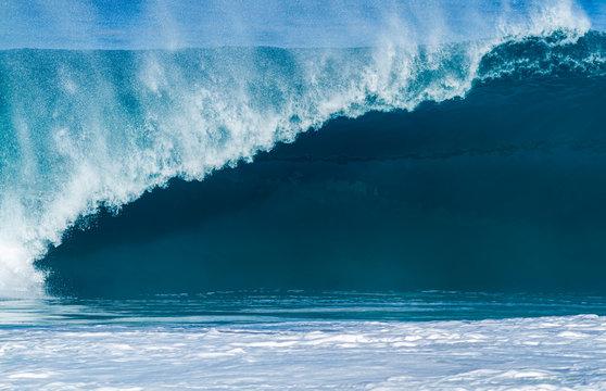 Beautiful breaking wave at Banzai Pipeline Hawaii