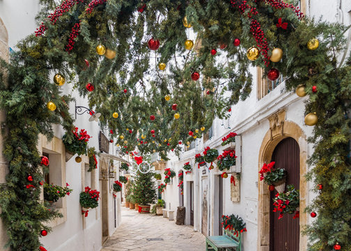 Travel Italy - small town in Christmas time