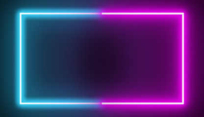 rectangle lines color full pink blue or laser light neon light abstract background.