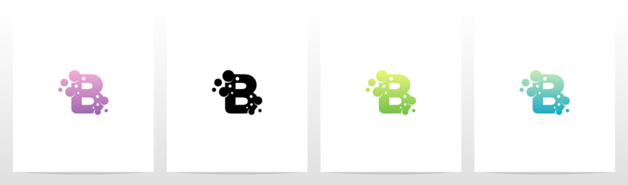 Soap Bubble On Letter Logo Design B