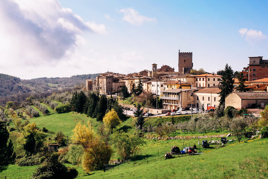 Town Against Sky At Castellina In Chianti