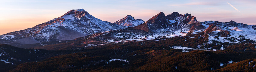 Mountains and a Sunset - Tumalo Mountain - Bend Oregon Wall mural