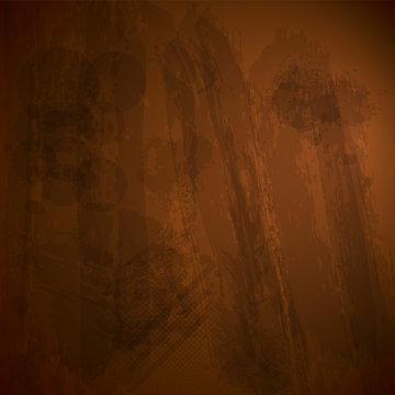 Wooden Eco Banner Design Template. Grunge Dark Background. Jpeg