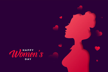 happy womens day banner with beautiful colors