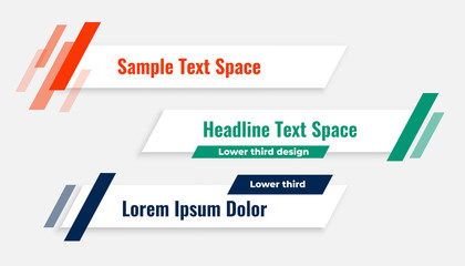 geometric modern lower third banner template design
