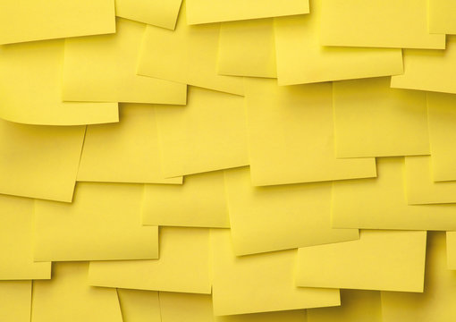 yellow sticky notes wall