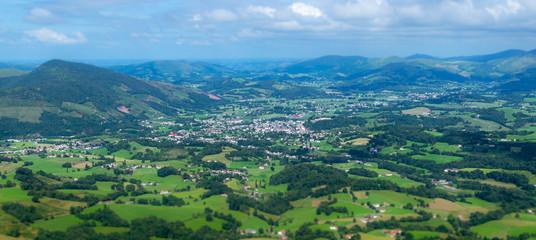 Papiers peints Bleu vert pays basque