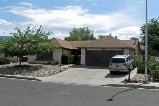 ALBUQUERQUE, NEW MEXICO, USA - May 22, 2014: Filming location of Breaking Bad television series: Walter White home house