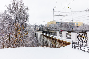 The stone bridge across the Berezui ravine in Kaluga is the oldest stone viaduct in Russia.