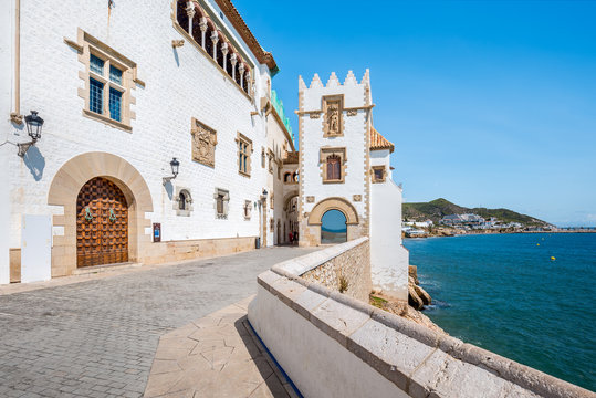 Cityscape of Sitges in Catalonia, Spain