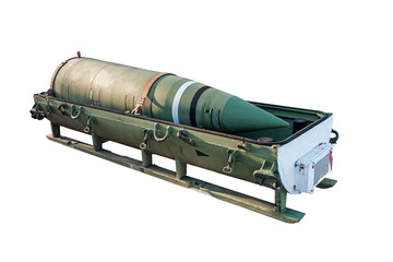 nuclear warhead from a ballistic missile in transport container