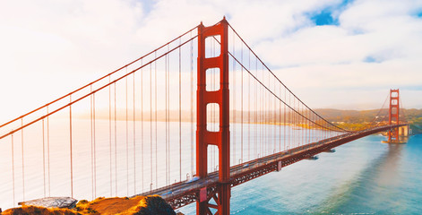 San Francisco's Golden Gate Bridge from Marin County