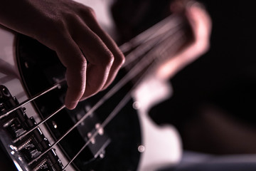 Bass in hand