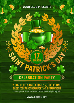 Saint Patrick's Day Party Poster Or Flyer Design