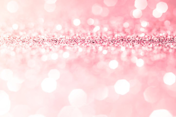 Pink gold, pink bokeh,circle abstract light background,Pink Gold shining lights, sparkling...