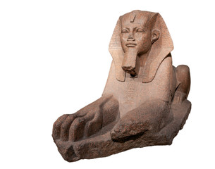 Granite Sphinx, ancient Egyptian art.