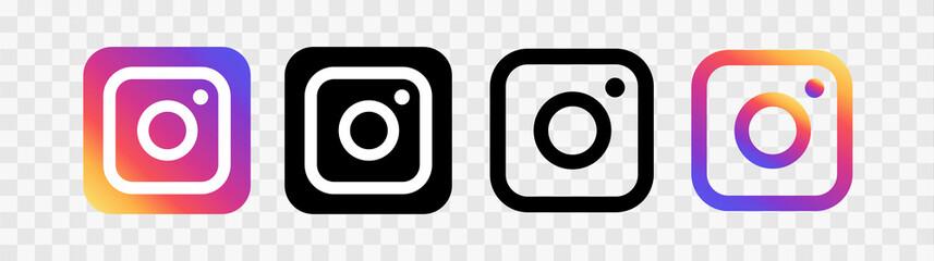 Social media icons illustration instagram