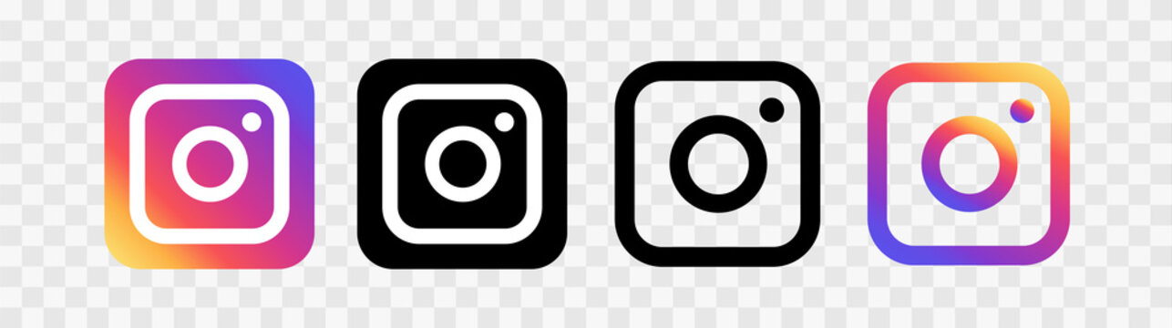 Social media icons illustration instagram