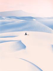 Papiers peints Blanc Paysage désertique