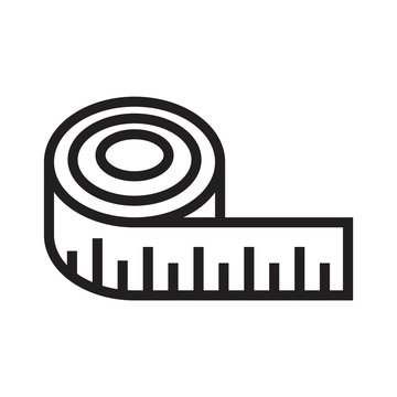 Measuring tape icon vector illustration for graphic and web design.