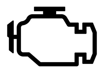cwli2 CarWarningLampIcon cwli - german: Motorkontrollleuchte / Motordiagnose - Symbol. - english: dashboard / check engine light icon. - DIN A4 - xxl g8996