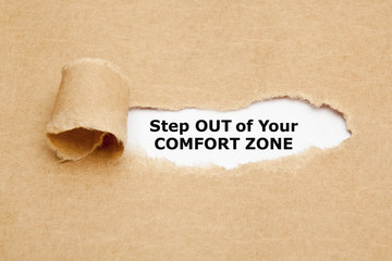 Step Out Of Your Comfort Zone Motivational Quote