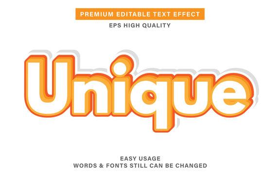 Unique editable text effect