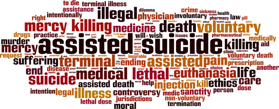 Assisted suicide word cloud