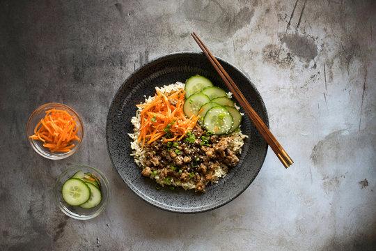 Beef Bulgogi Bowl with Pickled Vegetables