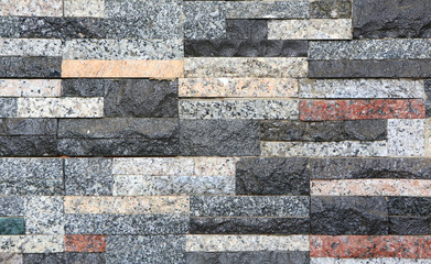 Abstract brick wall background. Stone tile texture.